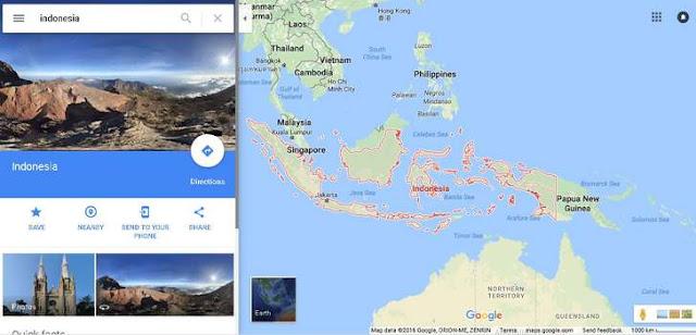 gambar peta indonesia dari satelit google