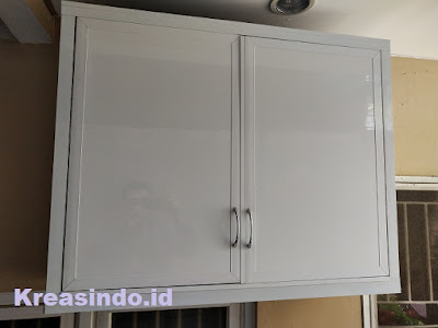 Repeat Order Kitchen Set Aluminium Bu Mita di Komplek Aruba Depok Lama