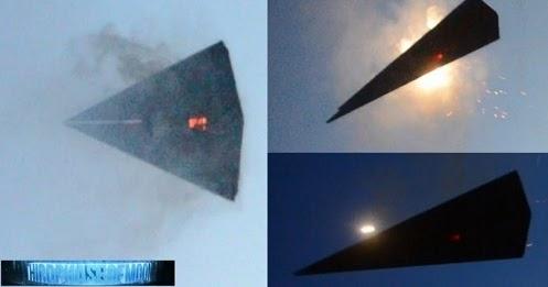 Misteriosa aeronave triangular semelhantes ao TR3-B Aparece Explodindo na ÁREA 51