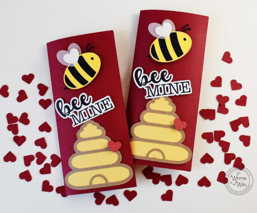 Bee Mine  Valentine's Day Candy Bar Wraps