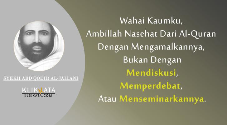Kata Kata Syekh Abd Qodir Al-Jailani : Kumpulan Mutiara ...