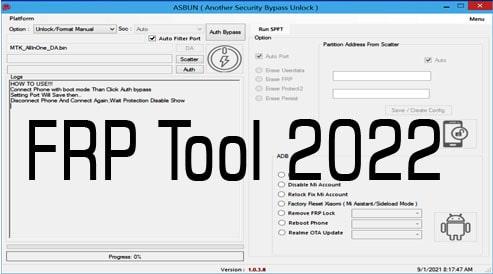 Frp Screen lock Remover Tool