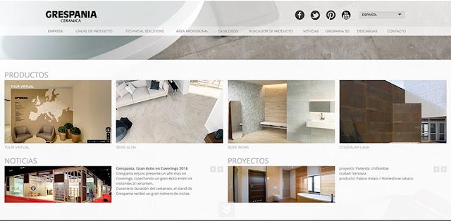 Grespania página web