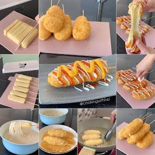 Cara Membuat Jajanan Gurih dari Korea (Mozzarella Corndog) Halal