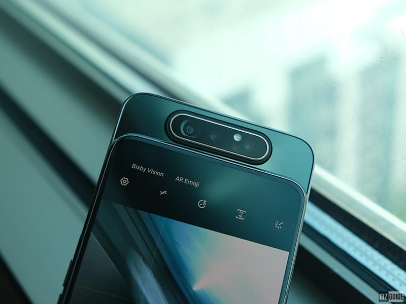Samsung Galaxy A80 rotating triple cameras