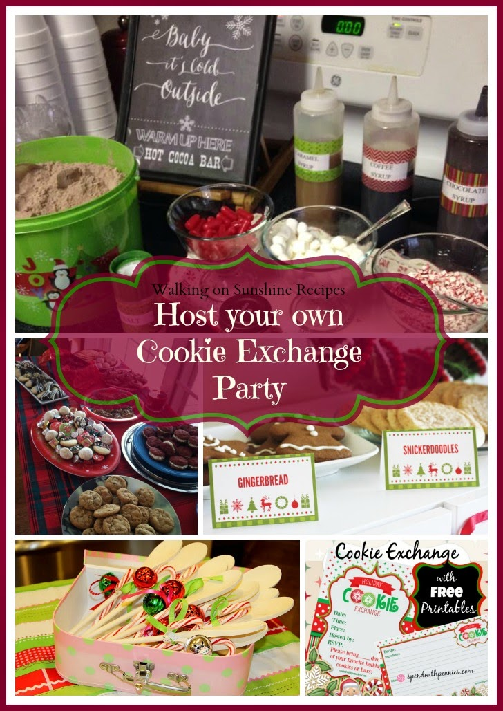 How to host a cookie exchange Christmas party from Walking on Sunshine Recipes.