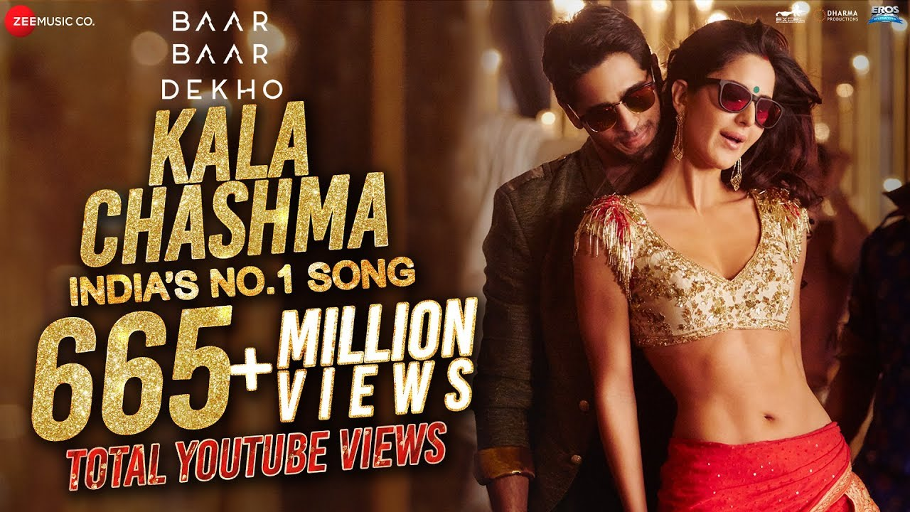 KALA CHASHMA LYRICS in Hindi