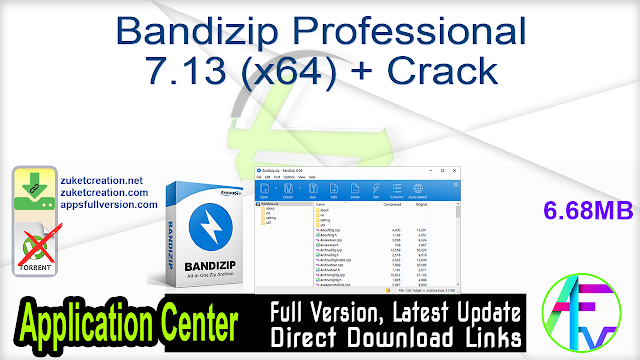 Bandizip Professional 7.13 (x64) + Crack