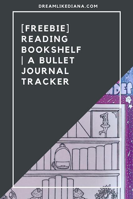 reading bookshelf bullet journal tracker pin