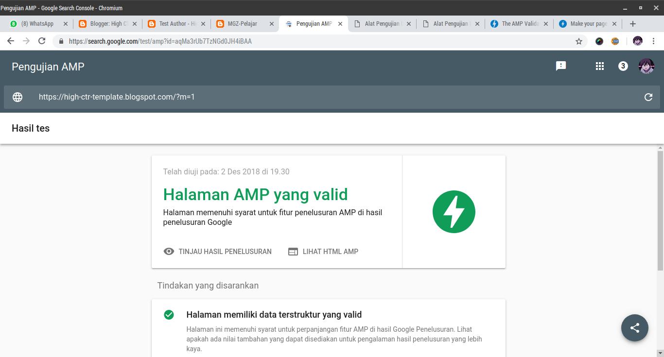 Download Template AMP Blogger Terbaru