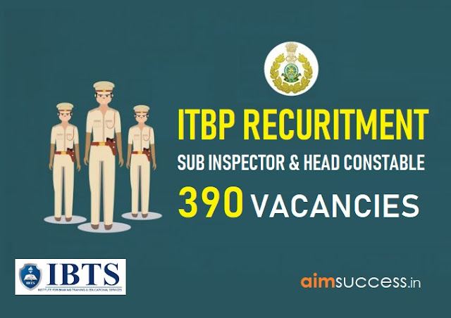 ITBP Recruitment 2018: 390 Sub Inspector & Head Constable
