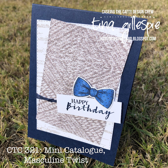 scissorspapercard, Stampin' Up!, CASEing The Catty, Handsomely Suited Bundle, Sweet Strawberry, Birch, In Good Taste DSP, Stampin' Blends