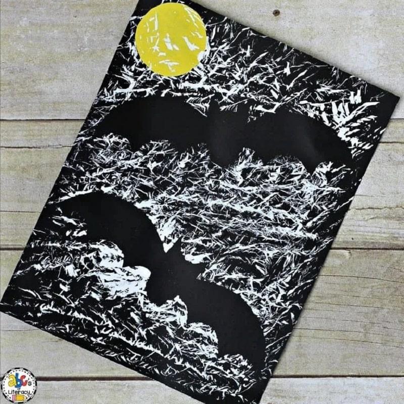 bat silhouette craft