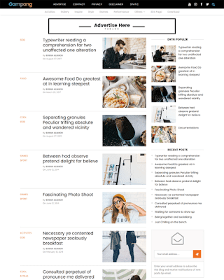 Easy Premium Blogger Template - Responsive Blogger Template