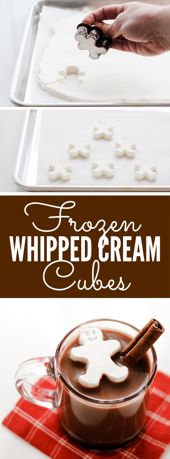 WHIPPED CREAM CUBES #desserts #christmas