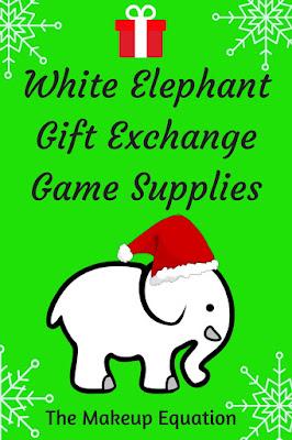 White Elephant Gift Exchange Game Supplies