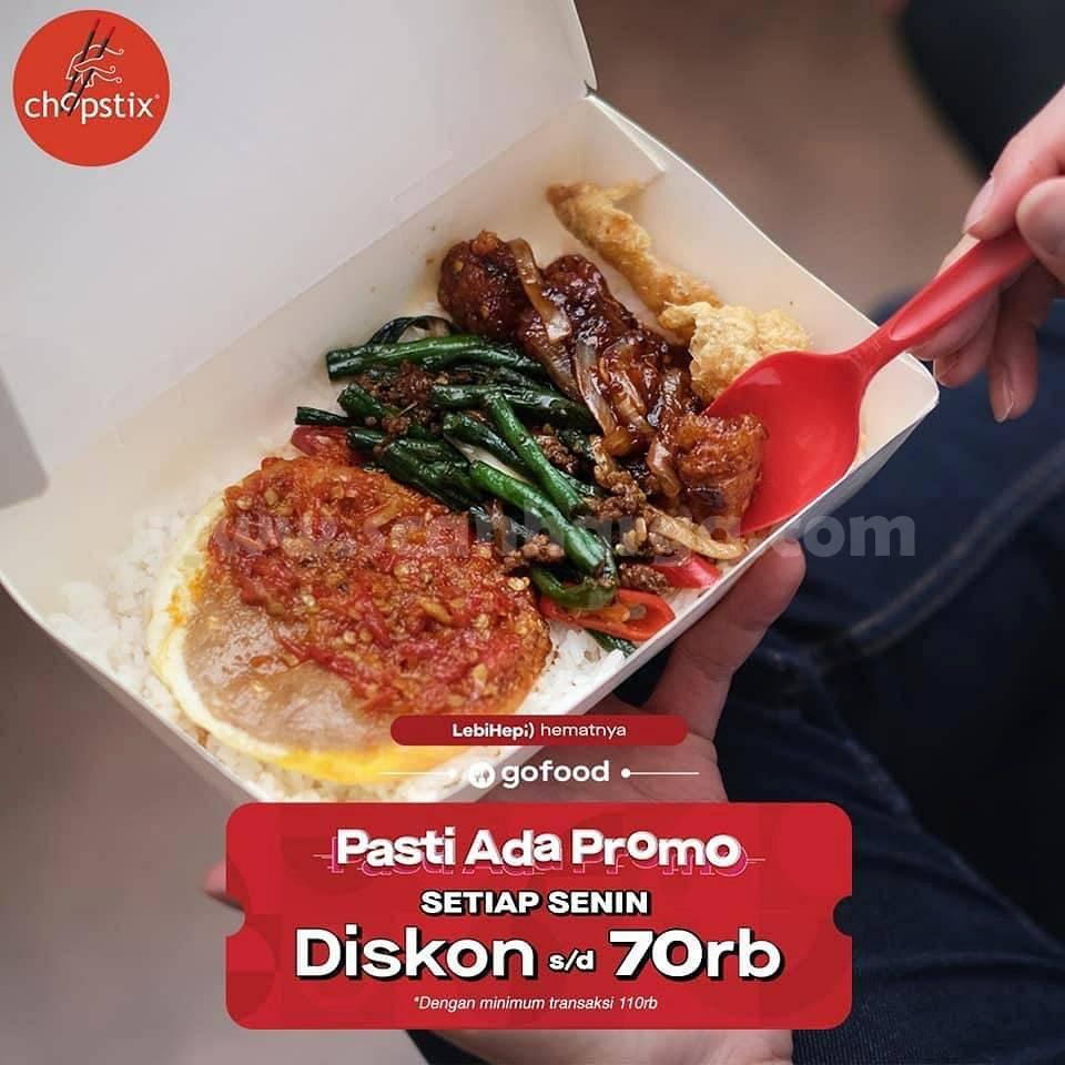 CHOPSTIX PASTI ADA PROMO – DISKON Rp 70.000 via aplikasi GOFOOD