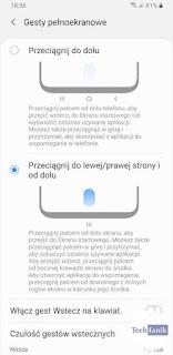 Samsung Android 10 Gesty Nawigacyjne