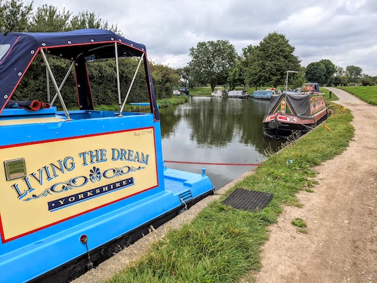 Barges on the Grand Union Canal at Startop's End
