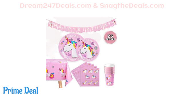PartyFun Unicorn Party Supplies Set 35%OFF