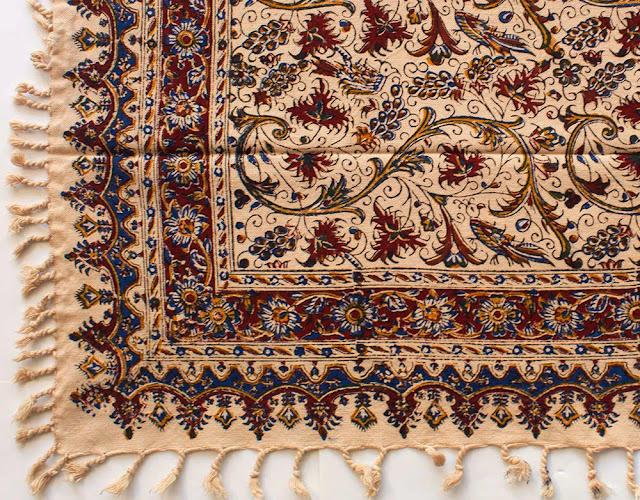 Iranian motifs on Ghalam Kar textiles.