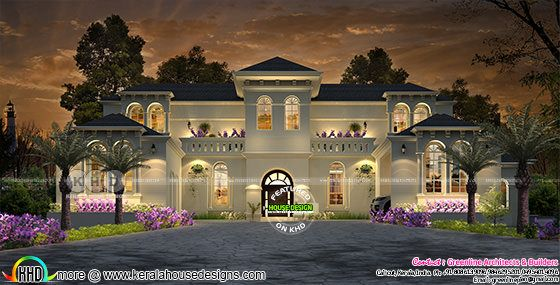 Luxury colonial style grand home design