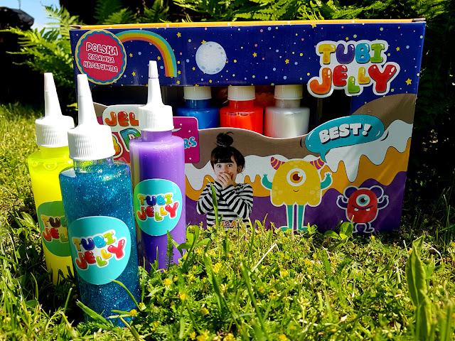 Tubi Jelly Potworki - żelowe figurki 3D - kreatywny zestaw - Tuban - kreatywnie z dzieckiem - żele i aktywator - slime - glutek - blog rodzicielski - blog parentingowy -  prezent dla dziecka