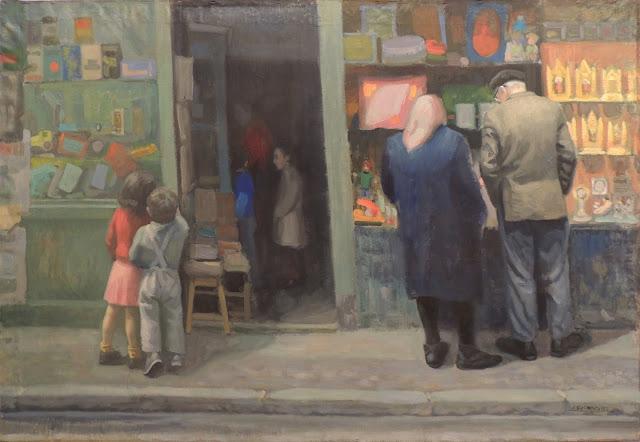 obra de arte impresionista calle pintor aragonés Jesús Sus