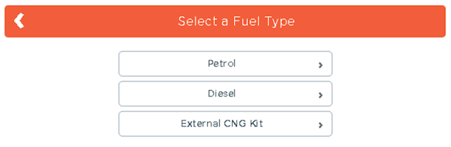 select fuel type for car insurance premium calculator,