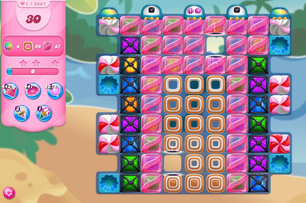 Candy Crush Saga level 9887