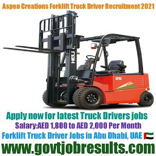 Aspen Creations Forklift Truck Driver Recruitment 2021-22
