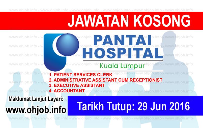 Jawatan Kerja Kosong Pantai Medical Centre Sdn Bhd logo www.ohjob.info jun 2016