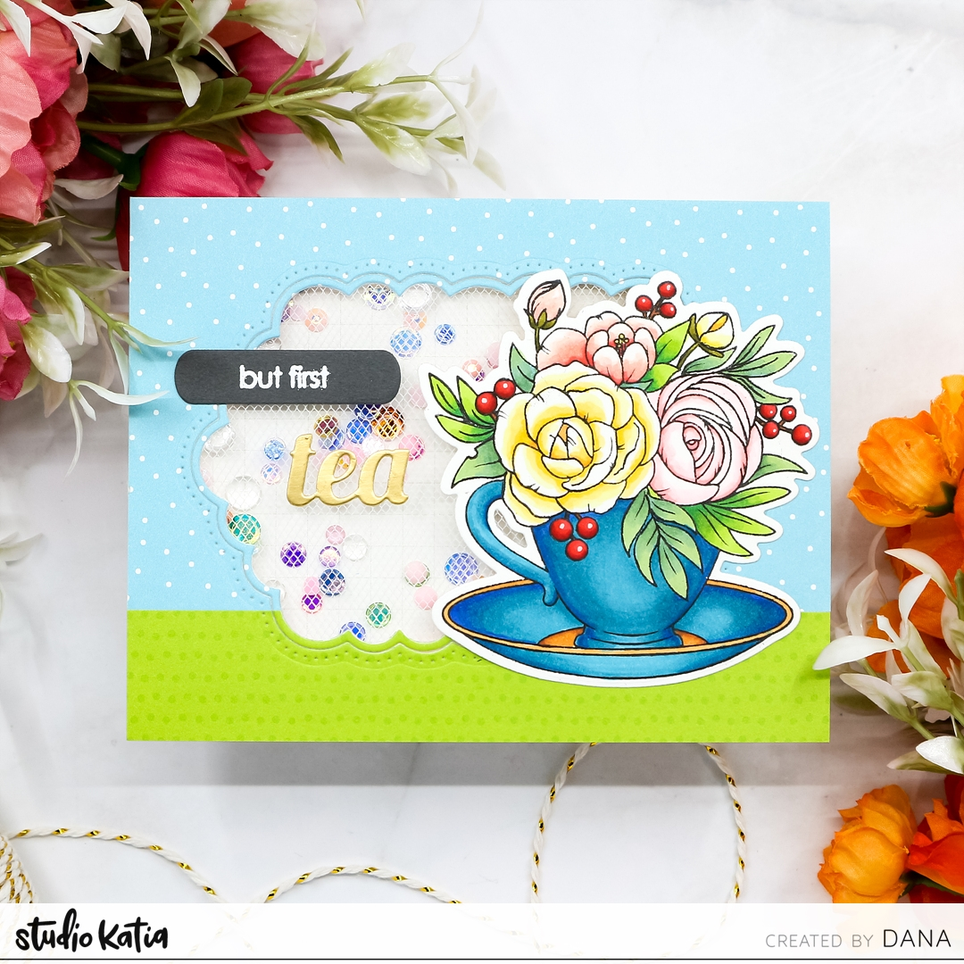 For Todays Card I Started By Stamping Studio Katia A Cup Of Thanks Stamp Set Image Onto White Stock Colored Them In With Alcohol Markers