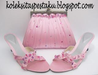 Baby Pink Tas Pesta dan Slop