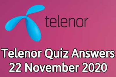 Telenor Answers 22 november 2020 || 22 Nov telenor Quiz 2020