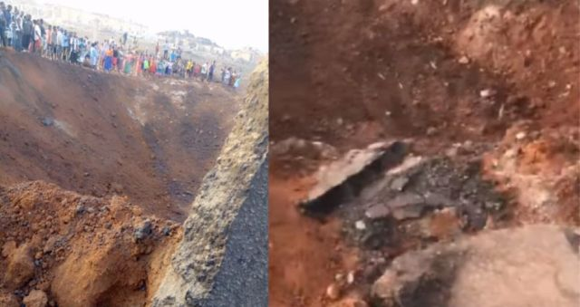 Possible meteor impact leaving huge crater and destroys over 100 houses in Akure, Nigeria  Meteor-impact-nigeria-2020%2B%25282%2529