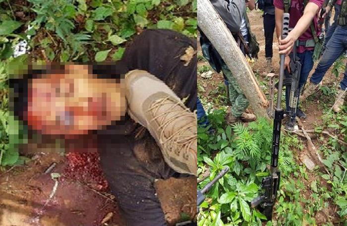 """Sicarios de """"Cárteles Unidos"""" se toman fotos junto al cuerpo ejecutado de su victima exhibiendo y demostrando su poderío en Guerrero"""