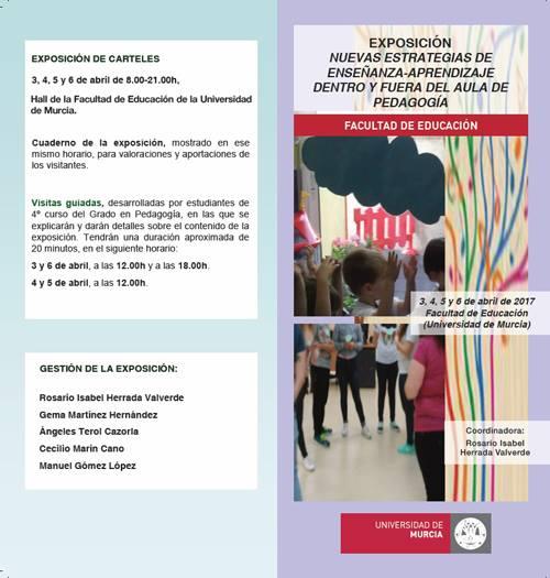 """Exposición """"Nuevas estrategias de enseñanza-aprendizaje dentro y fuera del aula de pedagogía""""."""