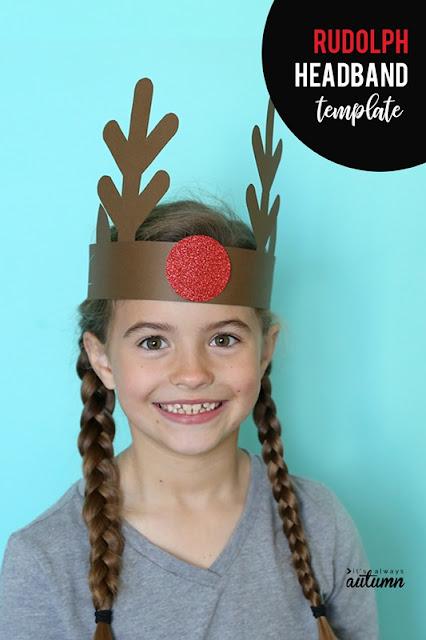 Corona de reno navidad