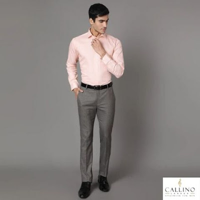 Textured Trousers for Men