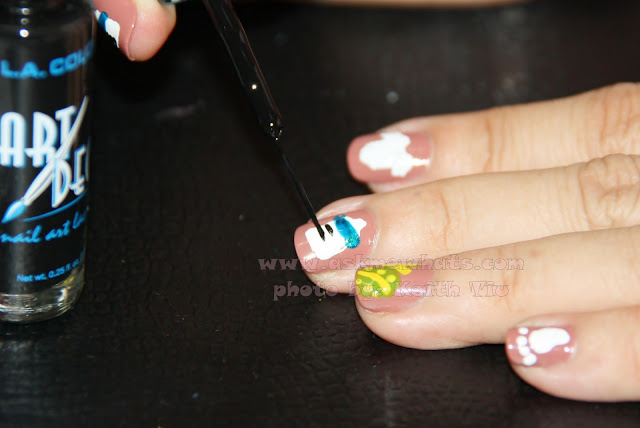 A photo of It's a Baby Boy Nail Art