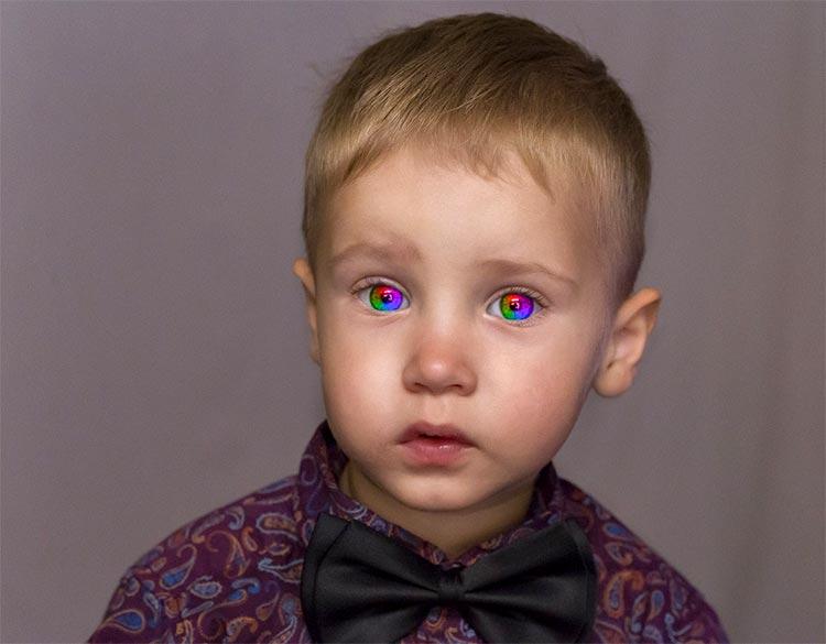Cara membuat efek foto warna mata pelangi di Photoshop