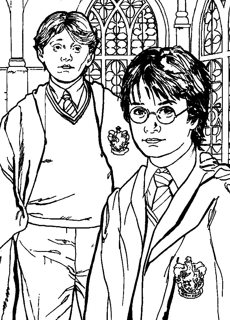 Hogwarts Wappen Ausmalbild