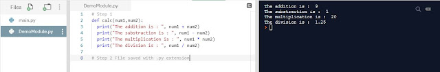 Python Programming - Creation of our own module