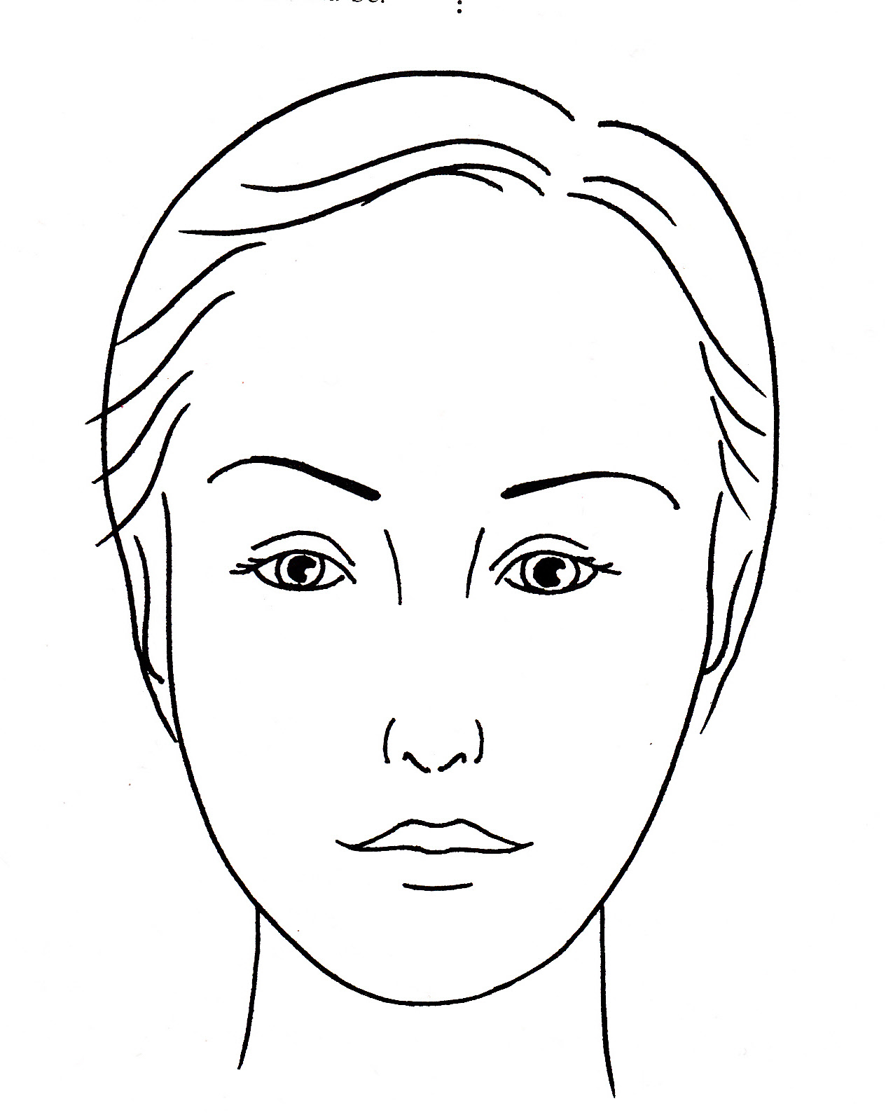 blank face diagram botox rangemaster cooker hood wiring makeup artist coloring pages