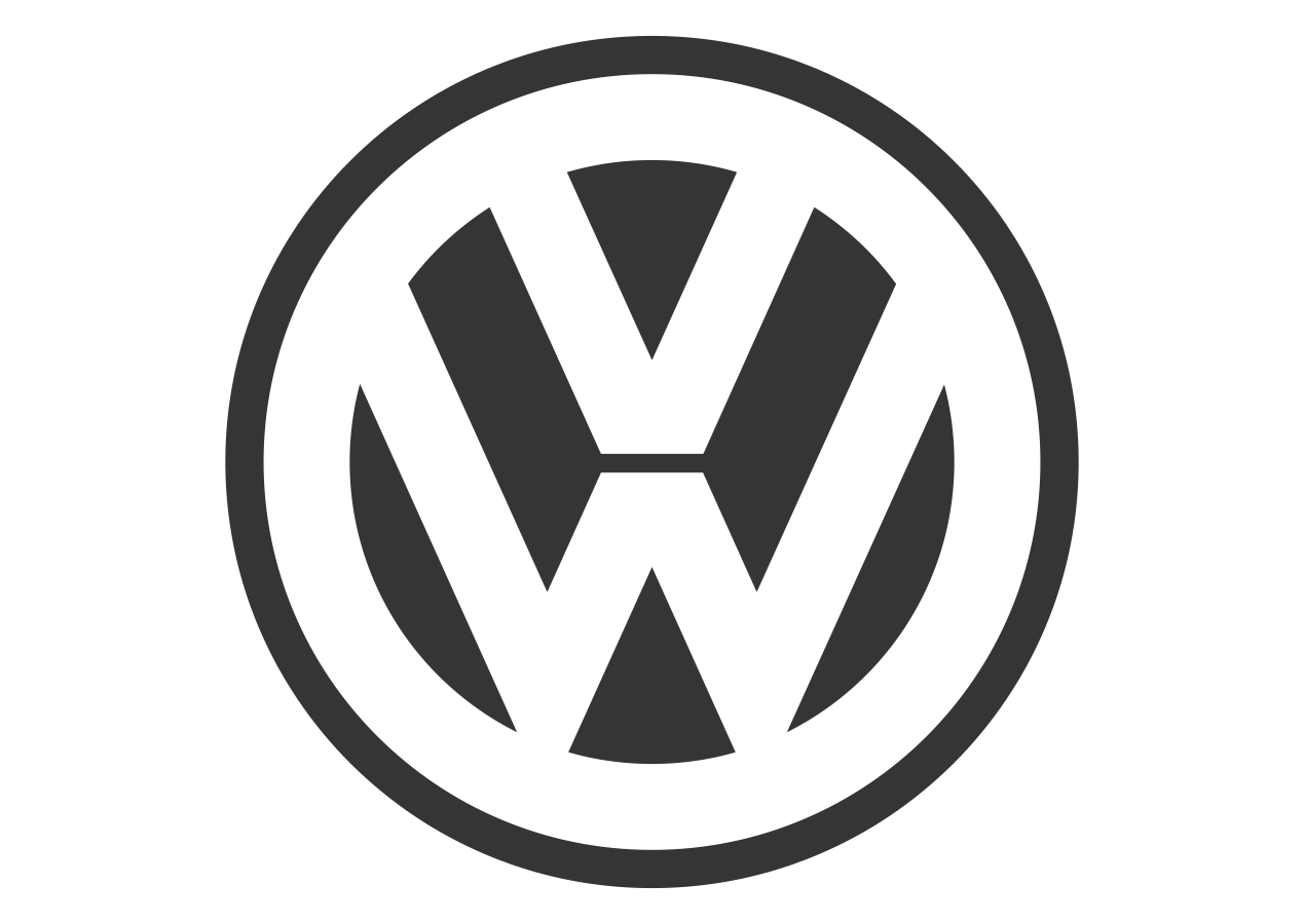 Volkswagen Black White Mode Logo Vector Format Cdr Ai