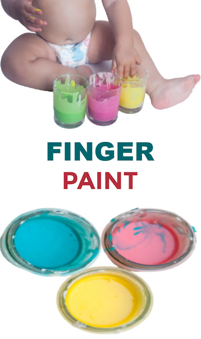 Make paint that is taste-safe with this easy recipe! #babypaintingideas #babypaintrecipe #tastesafepaint #fingerpaintingideasforkids #growingajeweledrose