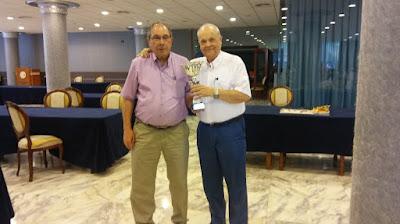 Los ajedrecistas Joan Bautista y Jaume Anguera