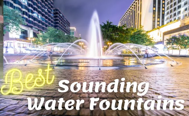 Best sounding water fountains with LED Lights