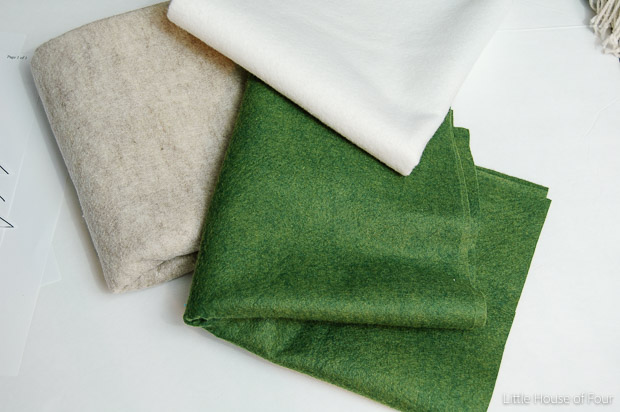 Felt for rustic felt christmas trees